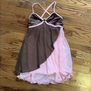 Beautiful brown and pink dance costume